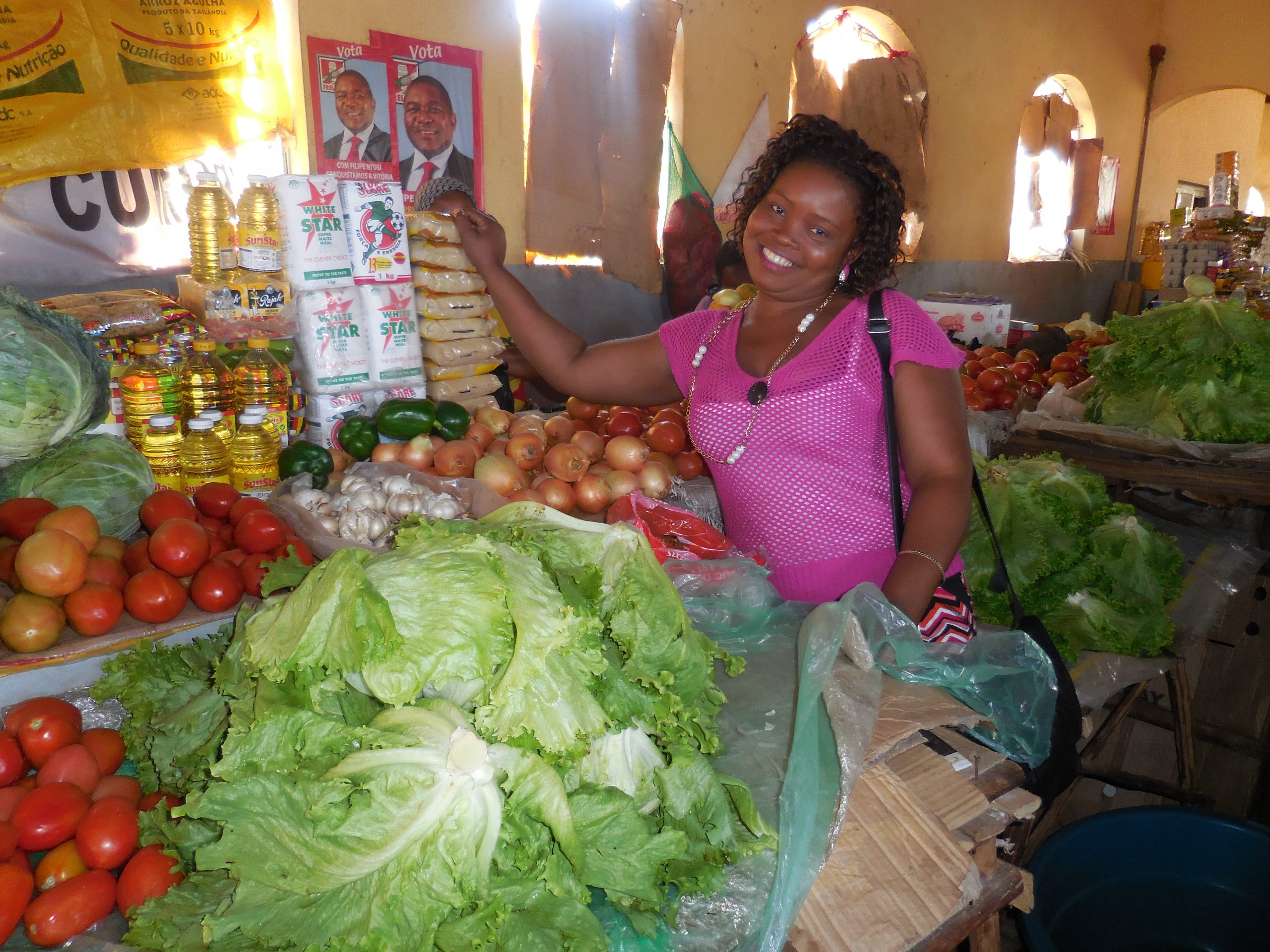 Small vendors receive loans from Africaworks, Mozambique after a natural disaster recovery